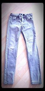 H&M Grey Straight Leg Jeans